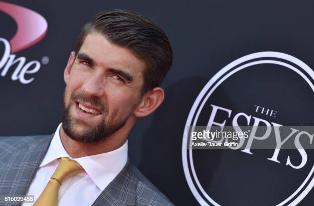Olympic swimmer Michael Phelps arrives at the 2017 ESPYS at Microsoft Theater on July 12 2017 in Los Angeles California