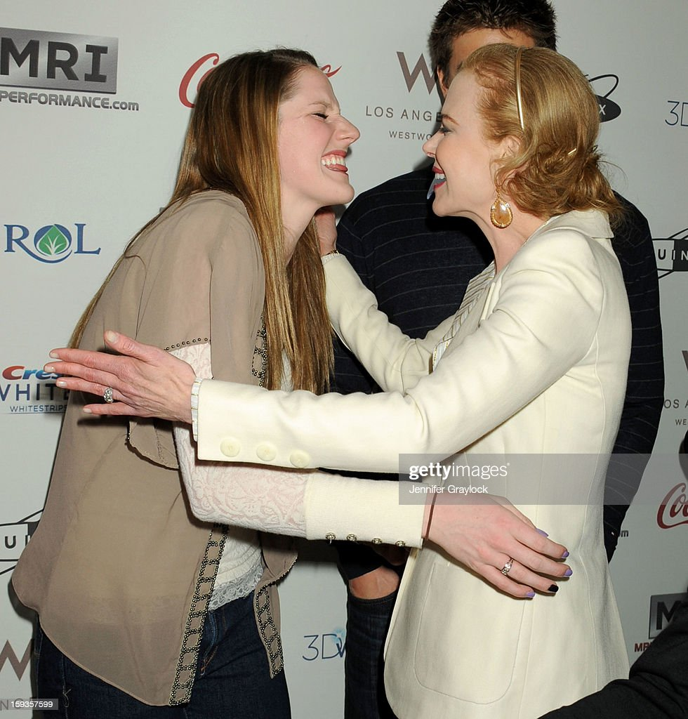 Olympic Swimmer Missy Franklin and Actor Nicole Kidman attend the Gold Meets Gold Event, held at the Equinox Sports Club Flagship West Los Angeles location on Saturday, January 12, 2013 in Los Angeles, California.