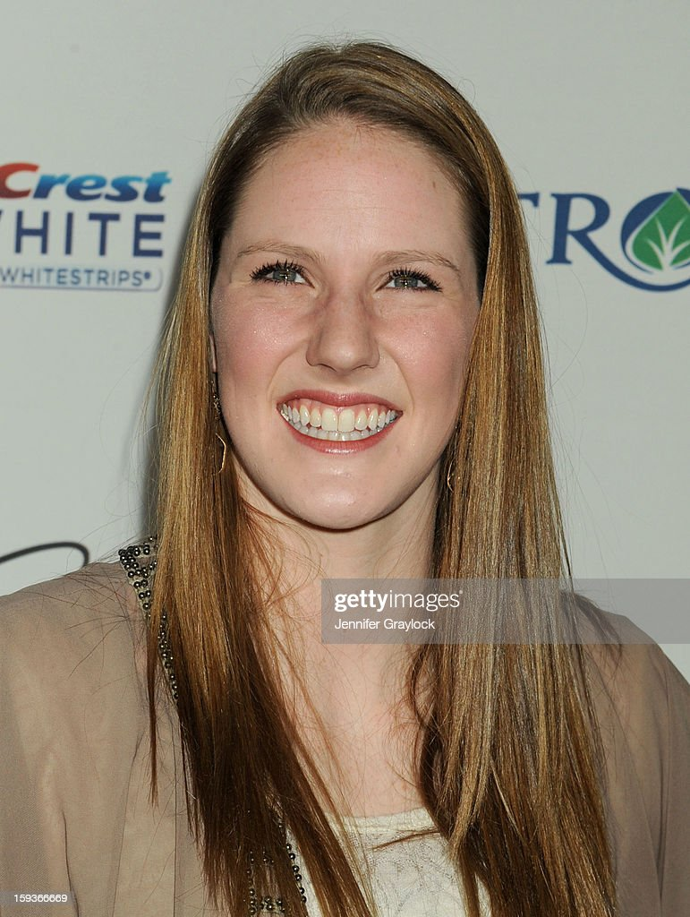 Olympic swimmer Missy Franklin attends the Gold Meets Gold Event, held at the Equinox Sports Club Flagship West Los Angeles location on Saturday, January 12, 2013 in Los Angeles, California.