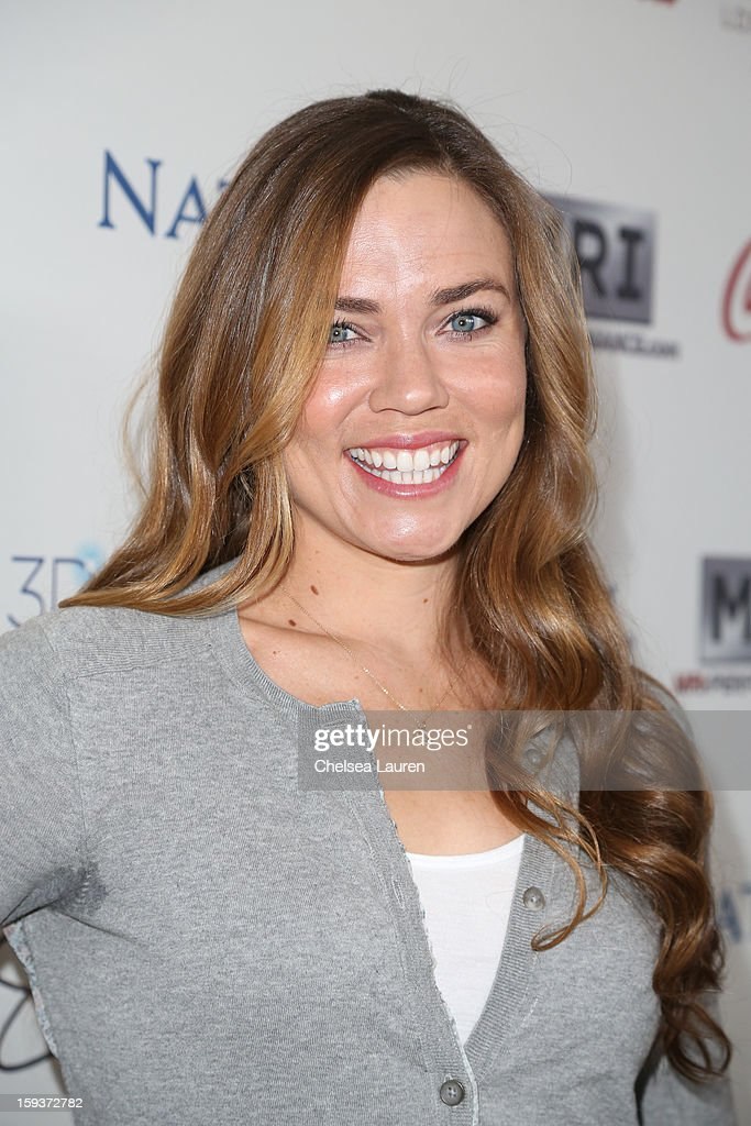 Olympic swimmer Natalie Coughlin arrives at CW3PR Presents 'Gold Meets Golden' at Equinox Sports Club on January 12, 2013 in Los Angeles, California.