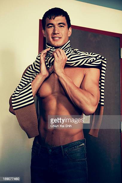 Olympic swimmer Nathan Adrian is photographed for August Man on December 1 2012 in New York City PUBLISHED IMAGE
