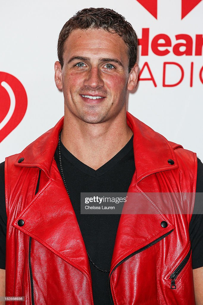 Olympic swimmer Ryan Lochte arrives at iHeartRadio Music Festival press room at MGM Grand Garden Arena on September 21, 2012 in Las Vegas, Nevada.