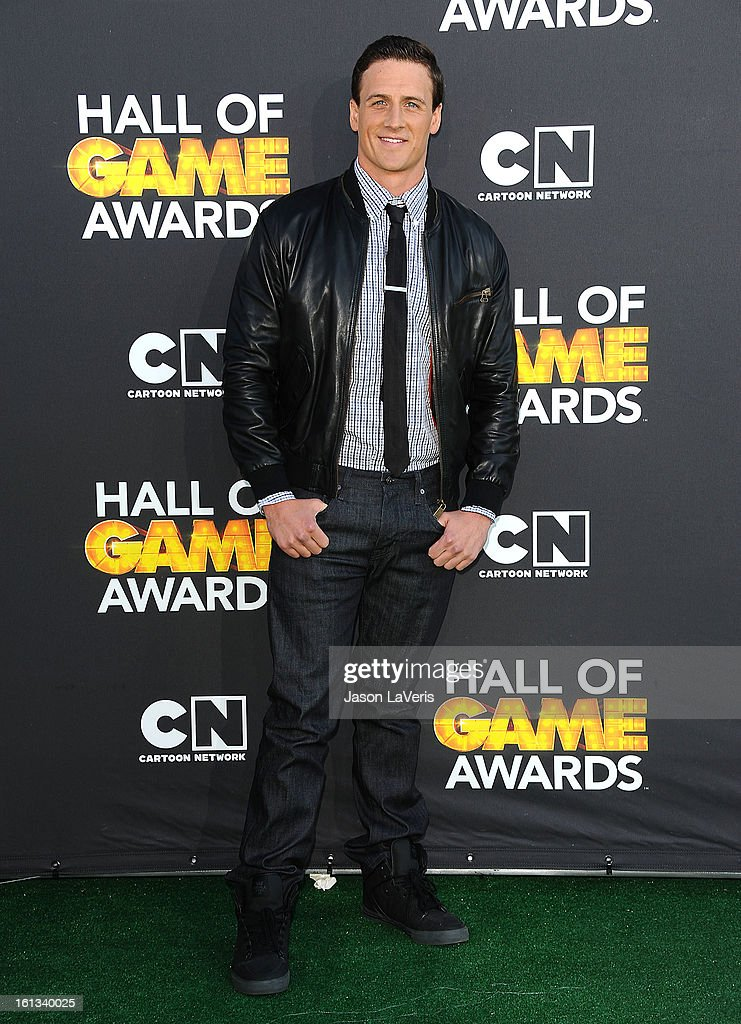 Olympic swimmer Ryan Lochte attends the Cartoon Network 3rd annual Hall Of Game Awards at Barker Hangar on February 9, 2013 in Santa Monica, California.