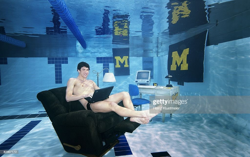michael phelps olympic swimming underwater portrait of olympian and u of michigan student michael phelps sitting in lazy boy