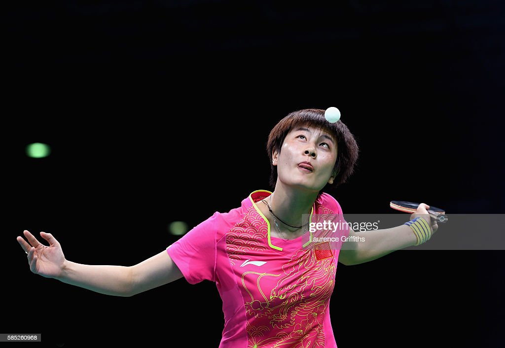 Olympic Table Tennis player Ning Ding of China practices at Riocentro Pavilion on August 2 2016 in Rio de Janeiro Brazil