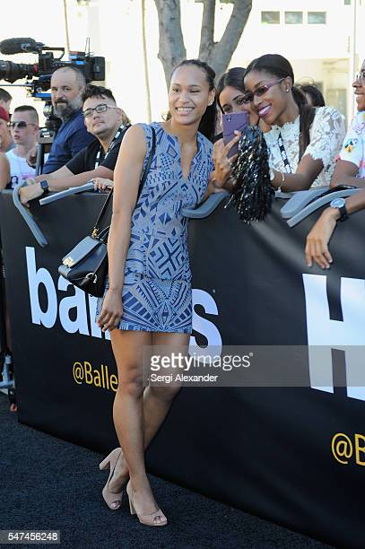 Olympic Taekwondo Competitor Paige McPherson attends the HBO Ballers Season 2 Red Carpet Premiere and Reception on July 14 2016 at New World Symphony...