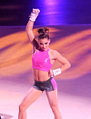 Olympic team gold medalist and vault silver medalist McKayla Maroney performs during the Kellogg's Tour of Gymnastics Champions sponsored by Hilton...