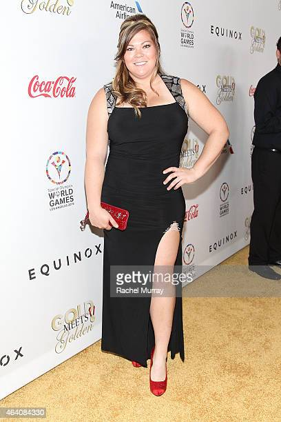 Olympic Track and Field Amanda Bingson attends CW3PR presents Gold Meets Golden at Equinox Sports Club on February 21 2015 in Los Angeles California