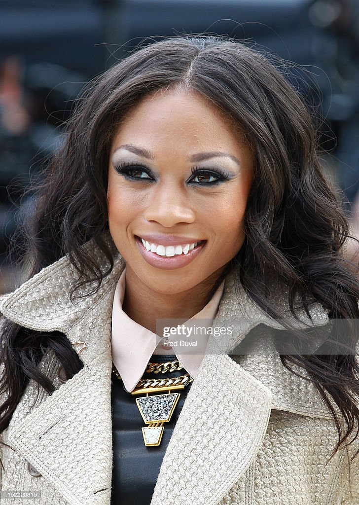 Olympic US athlete Allyson Felix attends the Burberry Prorsum show on day 4 of London Fashion Week Spring/Summer 2013, on September 17, 2012 in London, England.