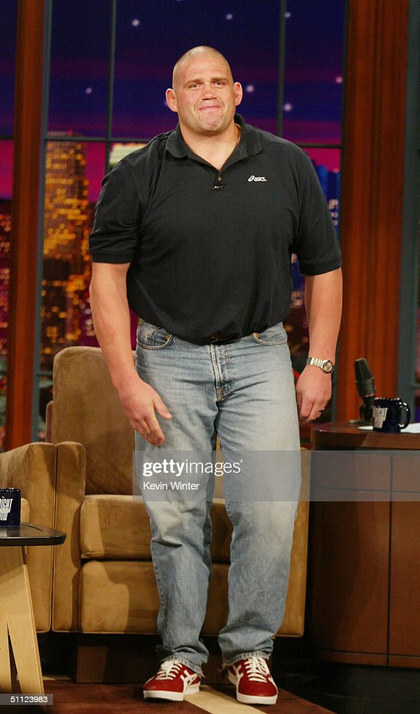 Olympic wrestler Rulon Gardner appears on 'The Tonight Show with Jay Leno' at the NBC Studios on July 28 2004 in Burbank California