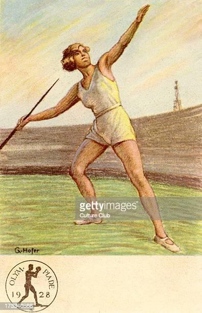 Olympics 1928 Amsterdam NetherlandsJavelin thrower In IX Olympiade