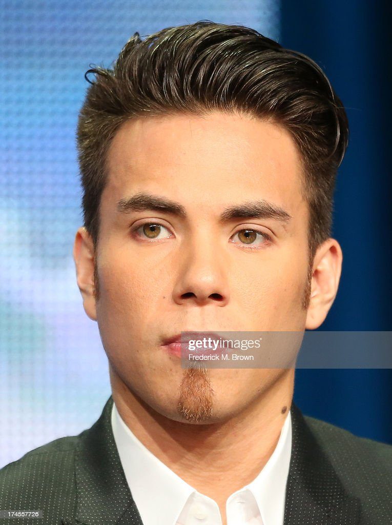 Olympics reporter Apolo Ohno speaks onstage during the 'NBC Olympics' panel discussion at the NBC portion of the 2013 Summer Television Critics...