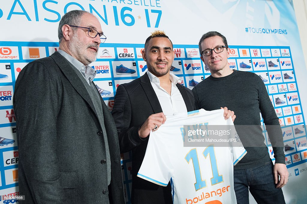 Dimitri Payet Gives A Press Conference In Marseilles : News Photo