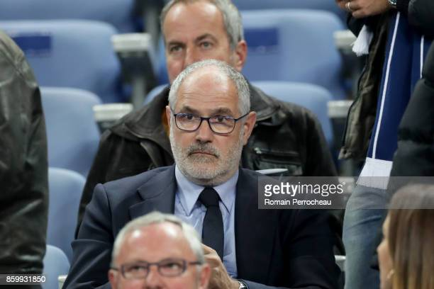 Olympique de Marseille sports director Andoni Zubizarreta looks on before the FIFA 2018 World Cup Qualifier between France and Belarus at Stade de...