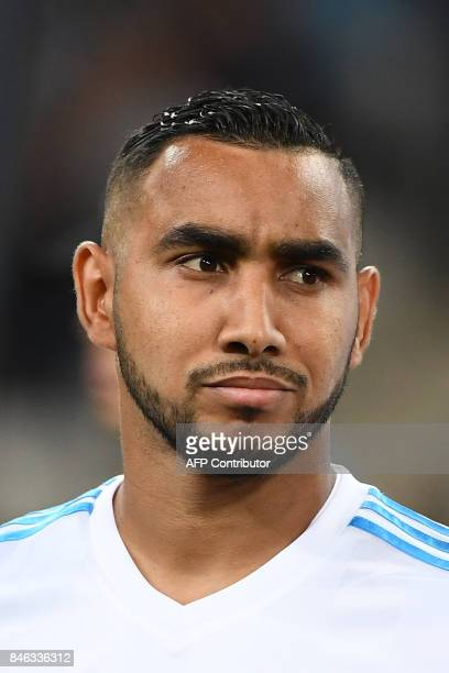 Olympique de Marseille's French forward Dimitri Payet is pictured ahead of the French L1 football match between Olympique of Marseille and Rennes at...