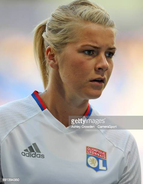 Olympique Lyonnais' Ada Hegerberg during the prematch warmup during the UEFA Women's Champions League Final match between Lyon Women and Paris...