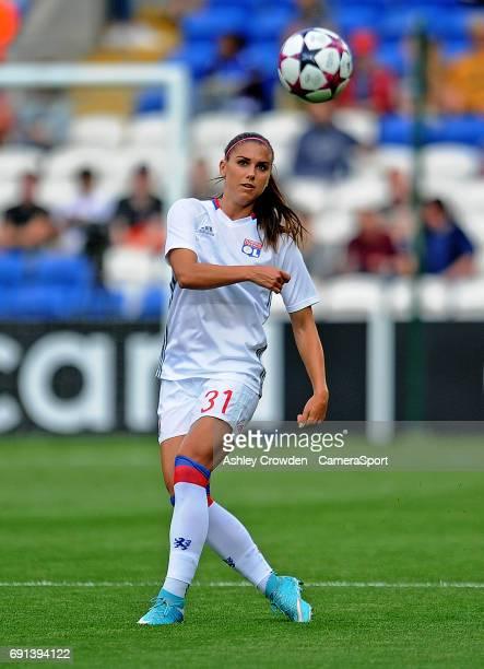 Olympique Lyonnais' Alex Morgan during the prematch warmup during the UEFA Women's Champions League Final match between Lyon Women and Paris...
