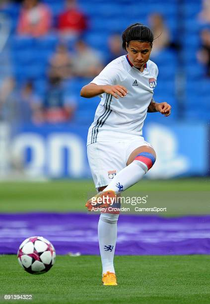 Olympique Lyonnais' Dzsenifer Marozsan during the prematch warmup during the UEFA Women's Champions League Final match between Lyon Women and Paris...