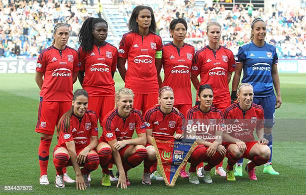Olympique Lyonnais team line up before the UEFA Women's Champions League Final VfL Wolfsburg and Olympique Lyonnais between at Mapei Citta' del...