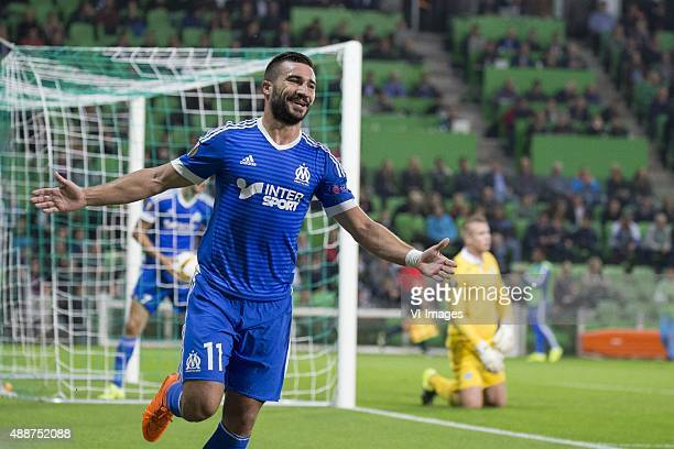 Olympique marseille Romain Alessandrini of Olympique de Marseille keeper Sergio Padt of FC Groningen during the UEFA Europa League match between FC...