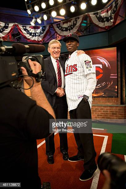 Olympus High School shortstop and 5th overall selection Nick Gordon poses with Commissioner of Baseball Allan 'Bud' Selig after being selected by the...
