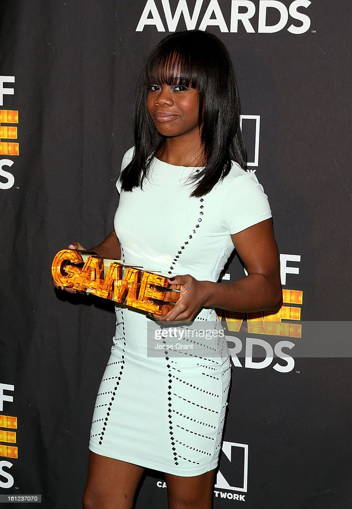 Olypian Gabby Douglas attends the Third Annual Hall of Game Awards hosted by Cartoon Network at Barker Hangar on February 9, 2013 in Santa Monica, California. 23270_004_JG_0173.JPG