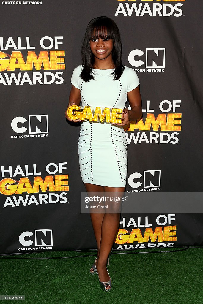 Olypian Gabby Douglas attends the Third Annual Hall of Game Awards hosted by Cartoon Network at Barker Hangar on February 9, 2013 in Santa Monica, California. 23270_004_JG_0171.JPG