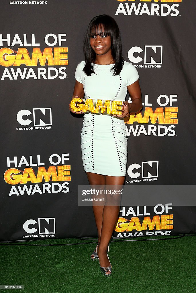 Olypian Gabby Douglas attends the Third Annual Hall of Game Awards hosted by Cartoon Network at Barker Hangar on February 9, 2013 in Santa Monica, California. 23270_004_JG_0153.JPG