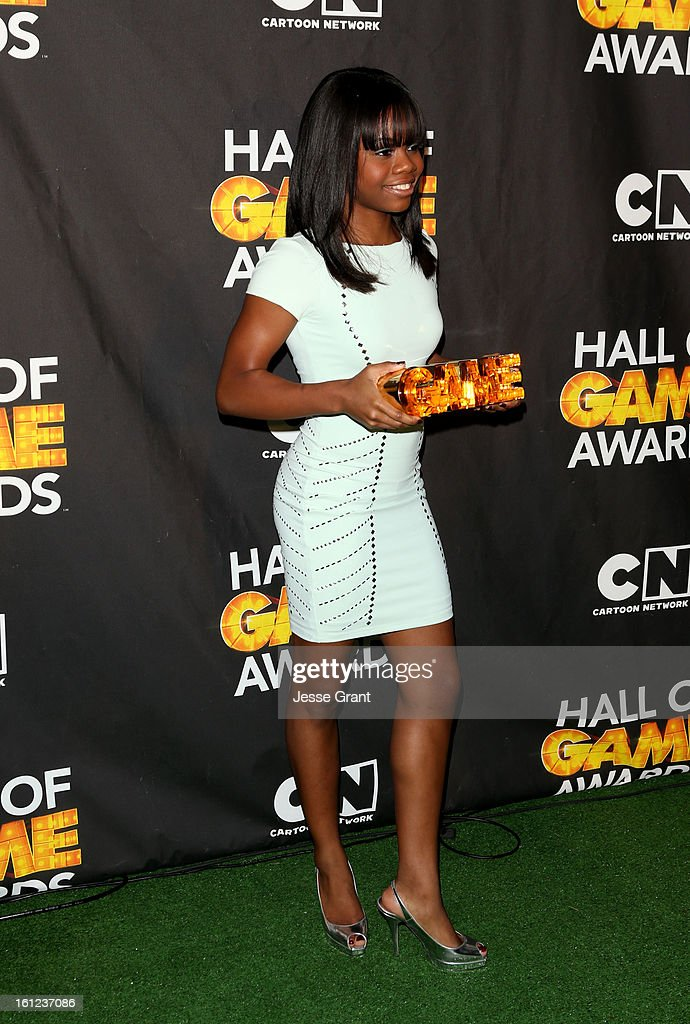 Olypian Gabby Douglas attends the Third Annual Hall of Game Awards hosted by Cartoon Network at Barker Hangar on February 9, 2013 in Santa Monica, California. 23270_004_JG_0136.JPG
