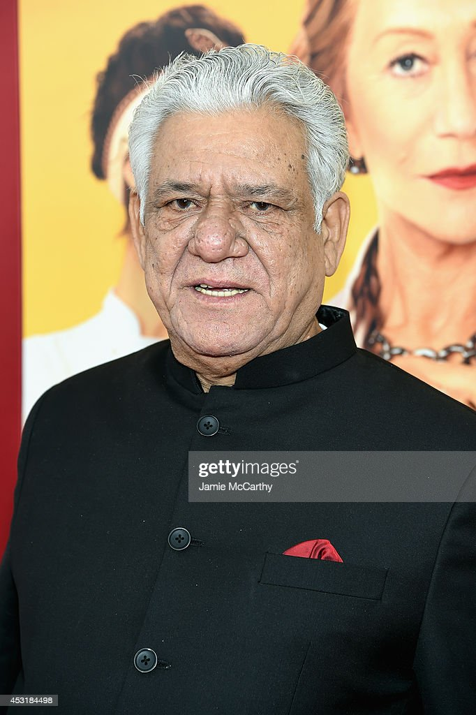 <a gi-track='captionPersonalityLinkClicked' href=/galleries/search?phrase=Om+Puri&family=editorial&specificpeople=1651238 ng-click='$event.stopPropagation()'>Om Puri</a> attends the world premiere of Dreamworks Pictures' 'The Hundred-Foot Journey,' on August 4, 2014 at Ziegfeld Theatre in New York City.