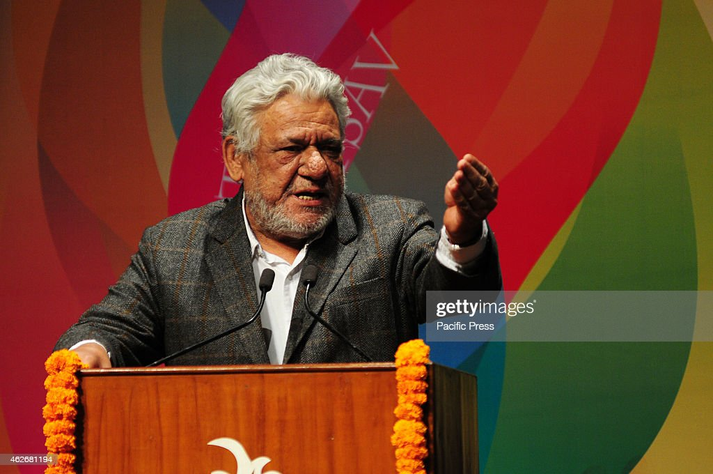 <a gi-track='captionPersonalityLinkClicked' href=/galleries/search?phrase=Om+Puri&family=editorial&specificpeople=1651238 ng-click='$event.stopPropagation()'>Om Puri</a>, Theatre & Film Actor on the Opening ceremony of 17th Bharat Rang Mahotsa-the International theatre festival of India organized by National School of Drama . Bharat Rang Mahotsav was established a decade ago by the National School of Drama to stimulate the growth and development of theatre across the country.