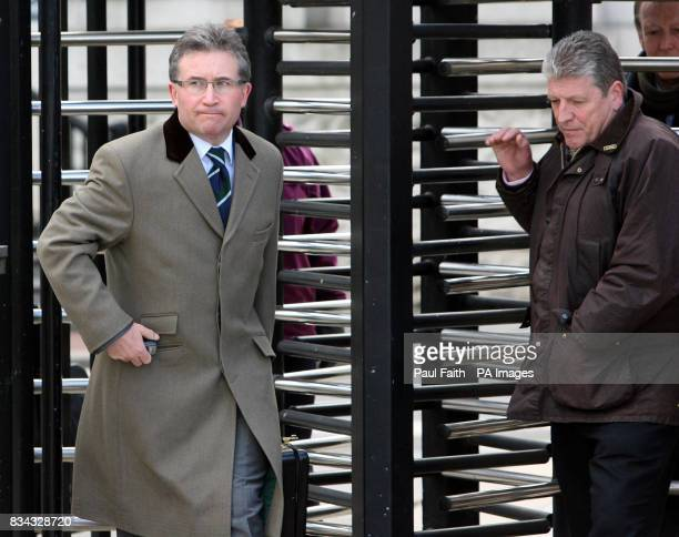 Omagh bomb victim relatives Victor Barker and Stanley McComb at the High Court in Belfast