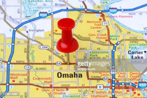 Omaha Nebraska On A Map Stock Photo Getty Images - Nebr map