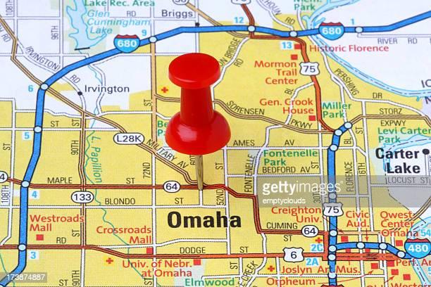 ネブラスカ州オマハをマップます。