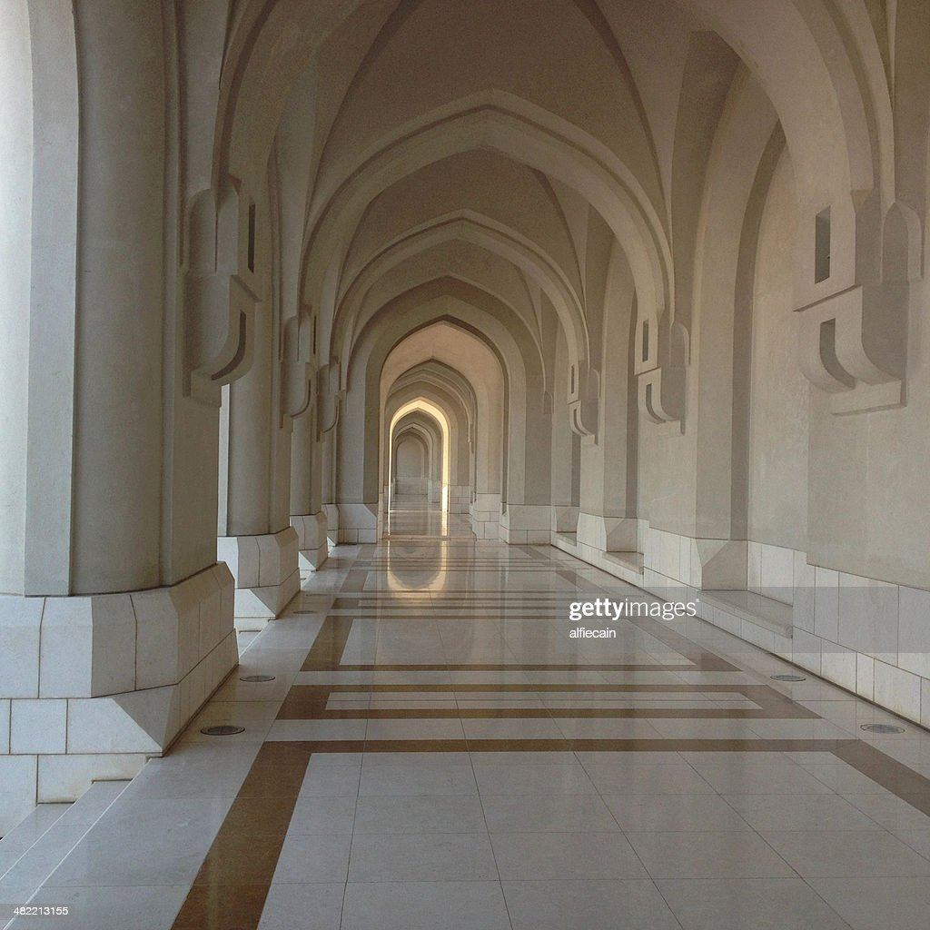 Oman, Muscat, Arches of Sultan's Palace