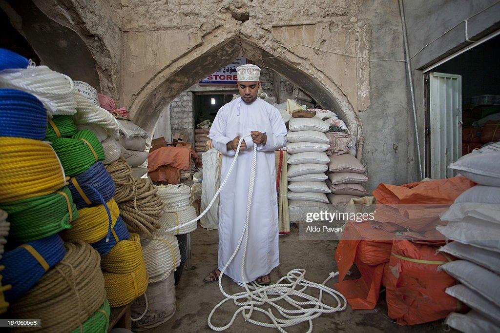 Oman, Nizwa, market (souq), of ropes