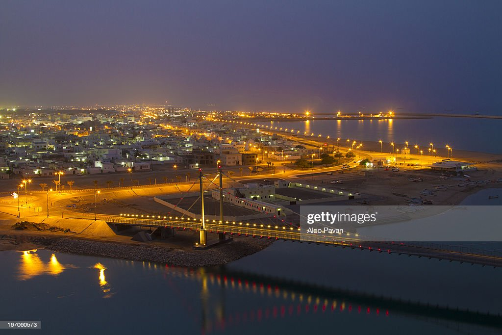 Oman, Sur, night view
