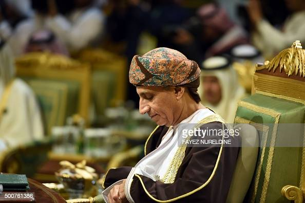 Omani Deputy Prime Minister Fahd Bin Mahmud alSaid attends the second day of the 136th Gulf Cooperation Council summit held in Riyadh on December 10...