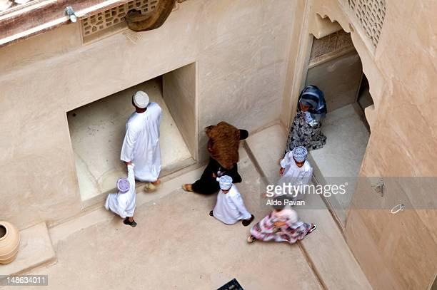 Omani family visting the fortress.