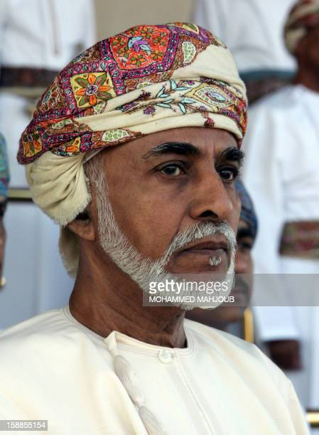 Oman's Sultan Qaboos bin Said attends the annual Royal Horse Race Festival in Muscat on January 1 2013 AFP PHOTO / MOHAMMED MAHJOUB