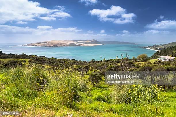 Omapere and Hokianga Harbour, Omapere, Northland Region, New Zealand