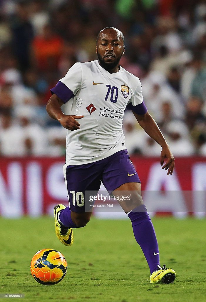 Omar Abdulrahman of Al Ain in action during the friendly match between Al Ain and Manchester City at Hazza bin Zayed Stadium on May 15, 2014 in Al Ain, United Arab Emirates.