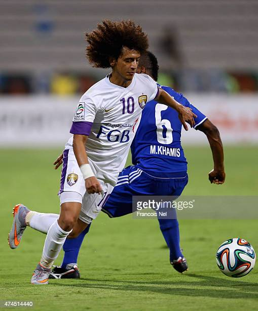 Omar Abdulrahman of Al Ain in action during the Presidents Cup Quarter Final match between Al Ain and Al Nasr at Al Maktoum Stadium on May 23 2015 in...