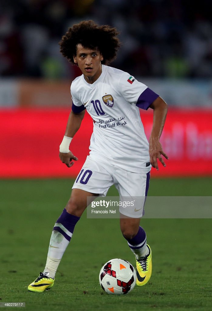 <a gi-track='captionPersonalityLinkClicked' href=/galleries/search?phrase=Omar+Abdulrahman&family=editorial&specificpeople=6420654 ng-click='$event.stopPropagation()'>Omar Abdulrahman</a> of Al Ain in action during the Presidents Cup Final match between Al Ain and Al Ahli at Zayed Sports City on May 18, 2014 in Abu Dhabi, United Arab Emirates.