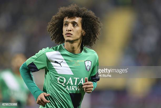 Omar Abdulrahman of AlAhli Saudi FC during the Qatar Airways Cup match between FC Barcelona and AlAhli Saudi FC on December 13 2016 in Doha Qatar