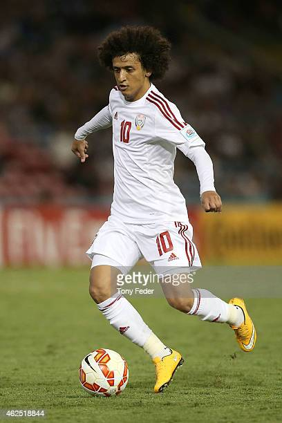 Omar Abdulrahman of the United Arab Emirates in action during the Third Place 2015 Asian Cup match between Iraq and the United Arab Emirates at...
