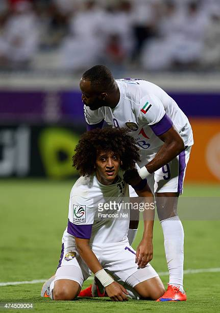Omar Abdulrahman reacts after having his shot at goal saved during the Presidents Cup Quarter Final match between Al Ain and Al Nasr at Al Maktoum...