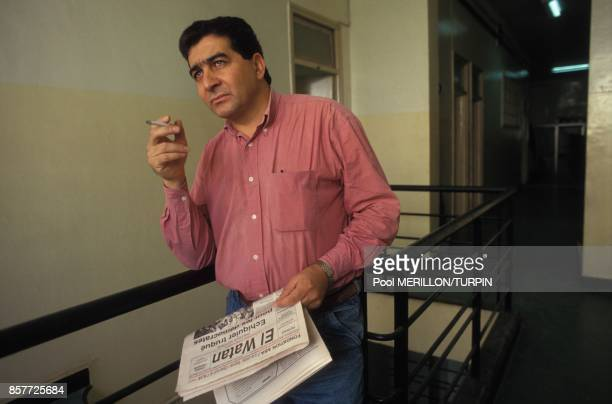 Omar Belhouchet directeur du quotidien El Watan le 2 novembre 1993 en Algerie