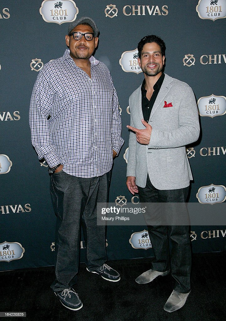 Omar Benson Miller and <a gi-track='captionPersonalityLinkClicked' href=/galleries/search?phrase=Adam+Rodriguez&family=editorial&specificpeople=212837 ng-click='$event.stopPropagation()'>Adam Rodriguez</a> attend LA's Chivas Regal 1801 Club LA launch party on March 20, 2013 in Los Angeles, California.