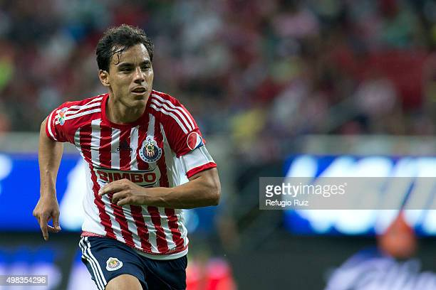 Omar Bravo of Chivas runs on the field during the 17th round match between Chivas and Santos Laguna as part of the Apertura 2015 Liga MX at Omnilife...